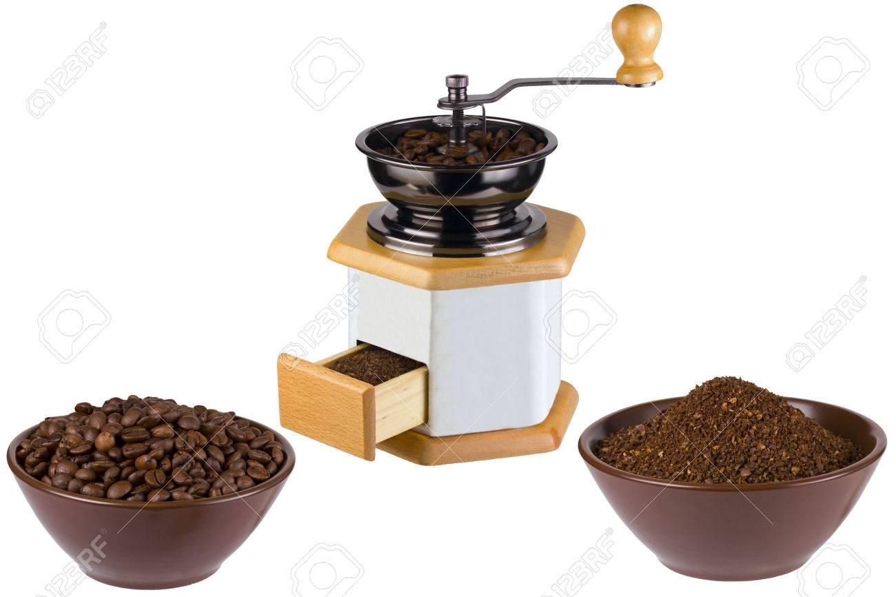 Kaffeemühle Gemahlenen Kaffee Kaffee Essen Trinken Koffeinhaltige ...