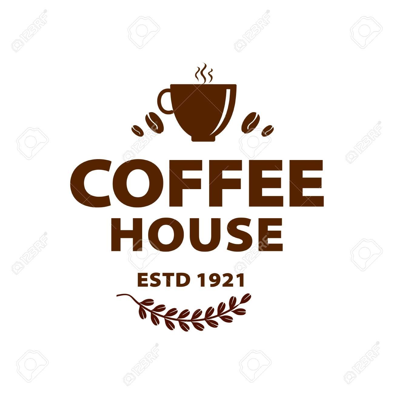 Coffee Shop Logo Design Template Retro Coffee Emblem Vector Art Ilustraciones Vectoriales Clip Art Vectorizado Libre De Derechos Image 148549030