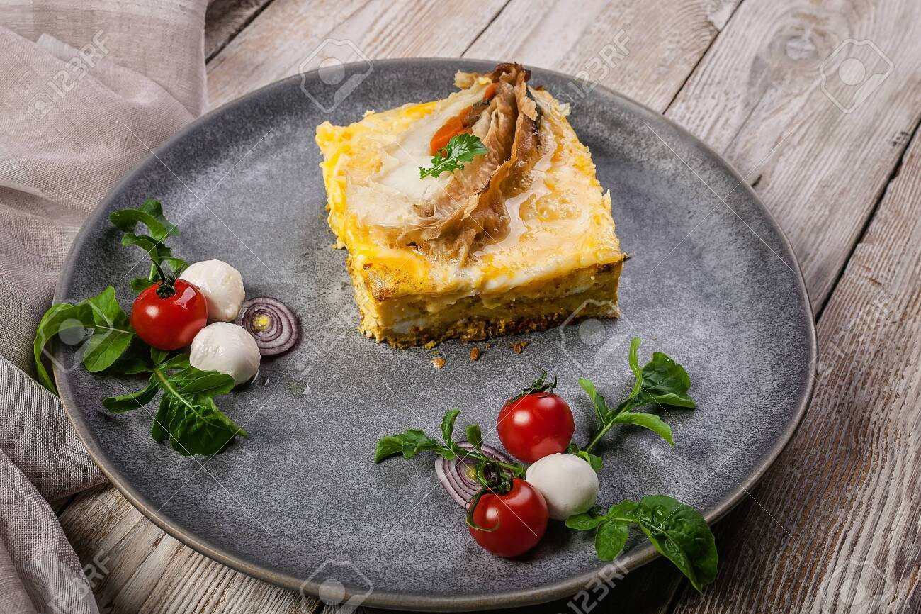 Omelet With Fish Fillet Baked Pangasius Spices And Herbs Stock Photo Picture Royalty Free Image 149573503