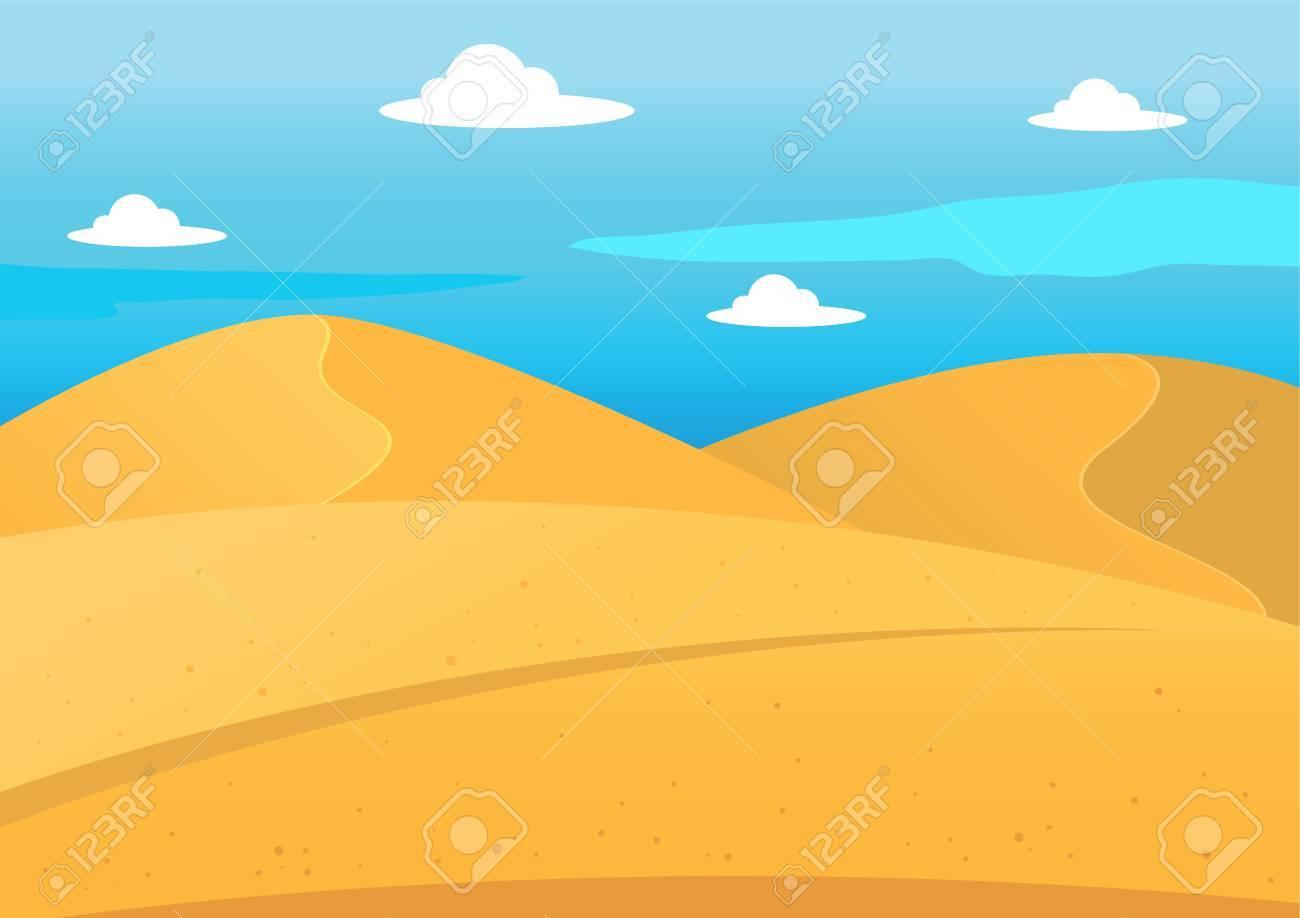 Natural desert landscape background, illustration - 52544800