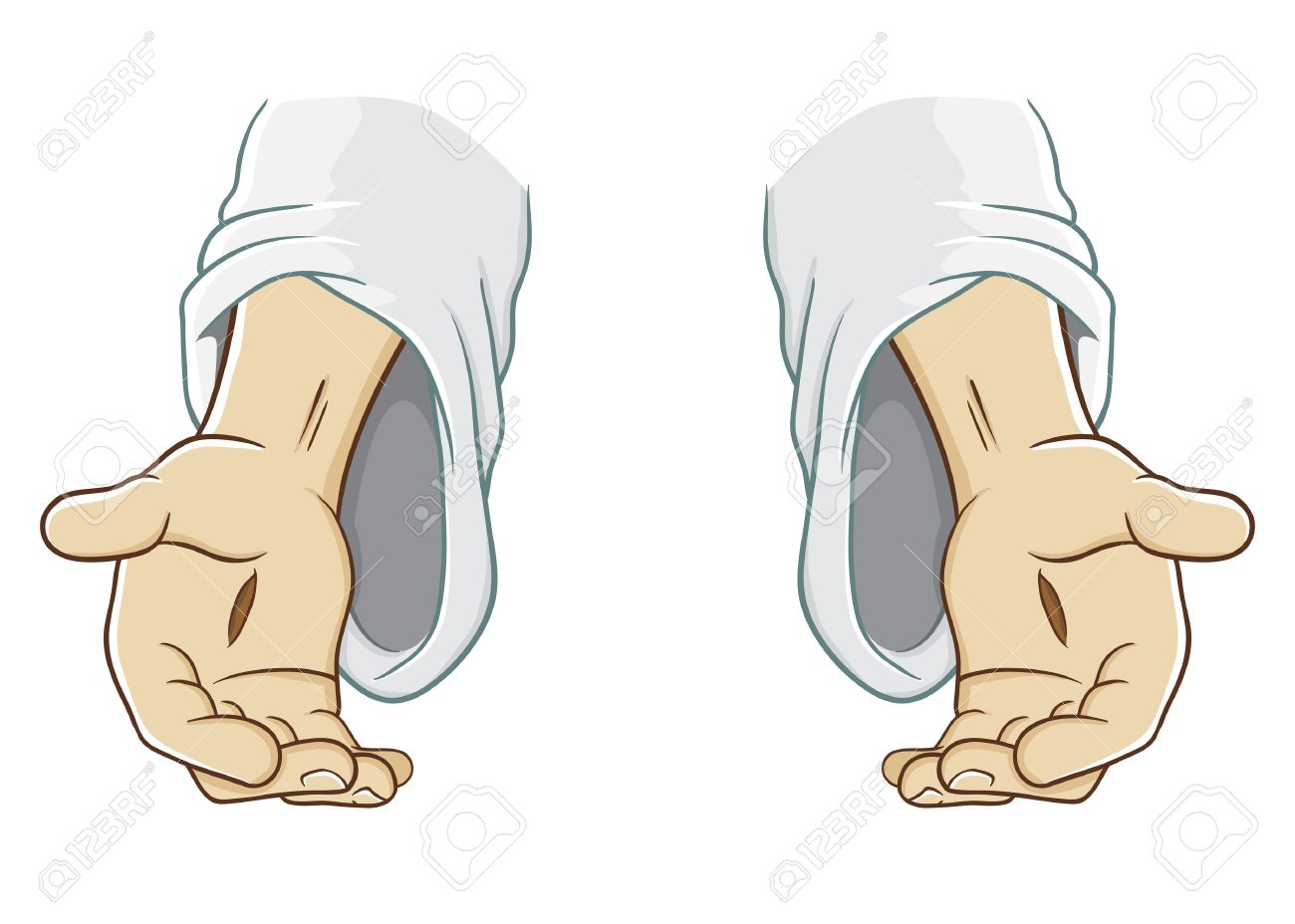 Jesus Christ Hand Reaching Out, Illustration Royalty Free Cliparts ...
