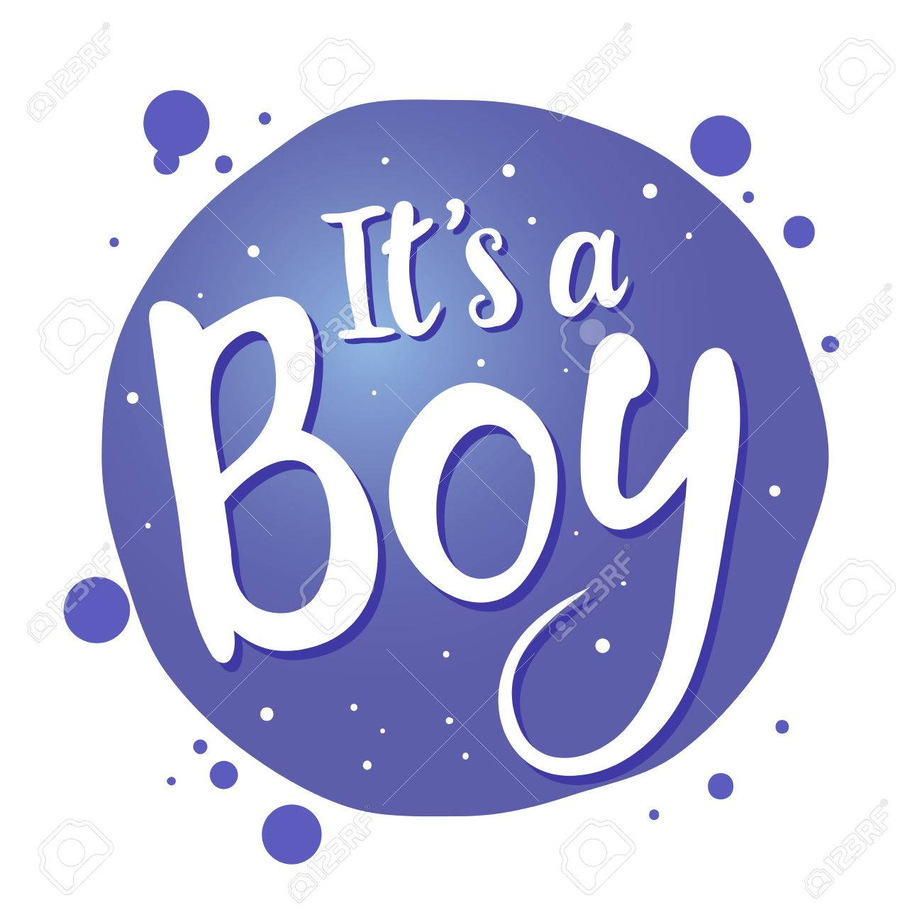 Vector stock of newborn baby greetings saying its a boy handwritten vector vector stock of newborn baby greetings saying its a boy handwritten lettering m4hsunfo