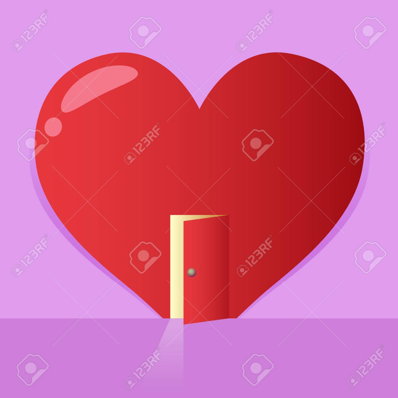 Vector stock of a big heart symbol with an open door valentines vector stock of a big heart symbol with an open door valentines background stock vector buycottarizona Image collections
