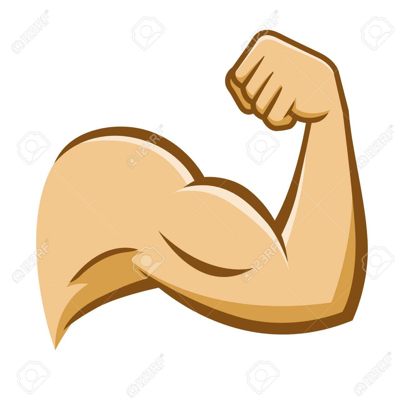 Vector Stock Of A Strong Muscular Arm On A White Background Royalty ...