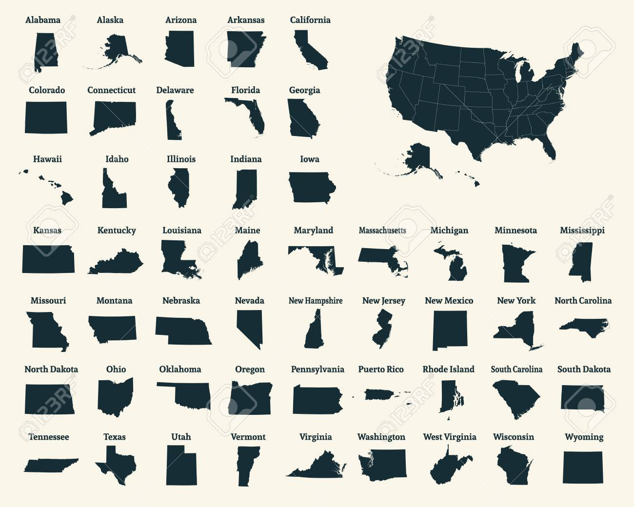 Outline Map Of The United States Of America 50 States Of The - Us-map-50-states