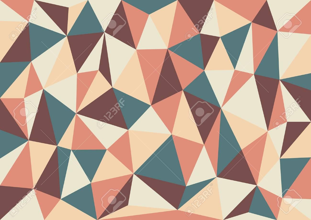 Soft Retro Triangles Stock Vector - 19562474