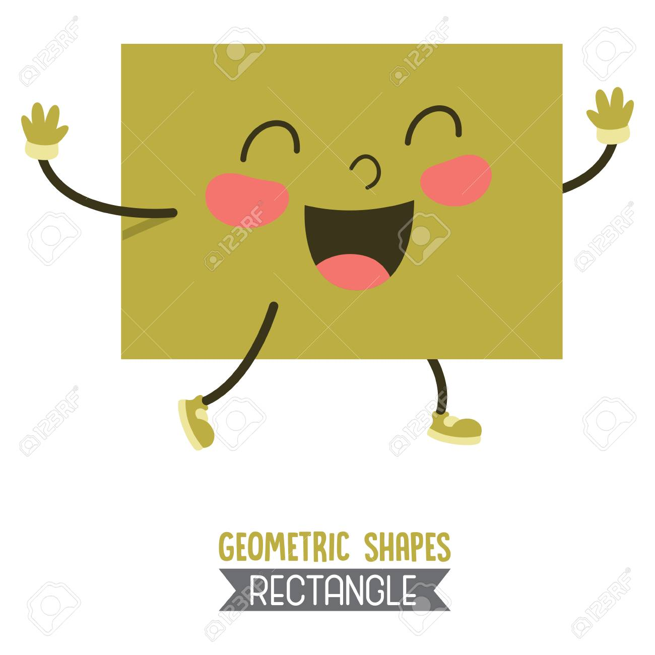 A Vector Illustration Of Rectangle Geometric Shape Royalty Free Cliparts Vectors And Stock Illustration Image 100548725