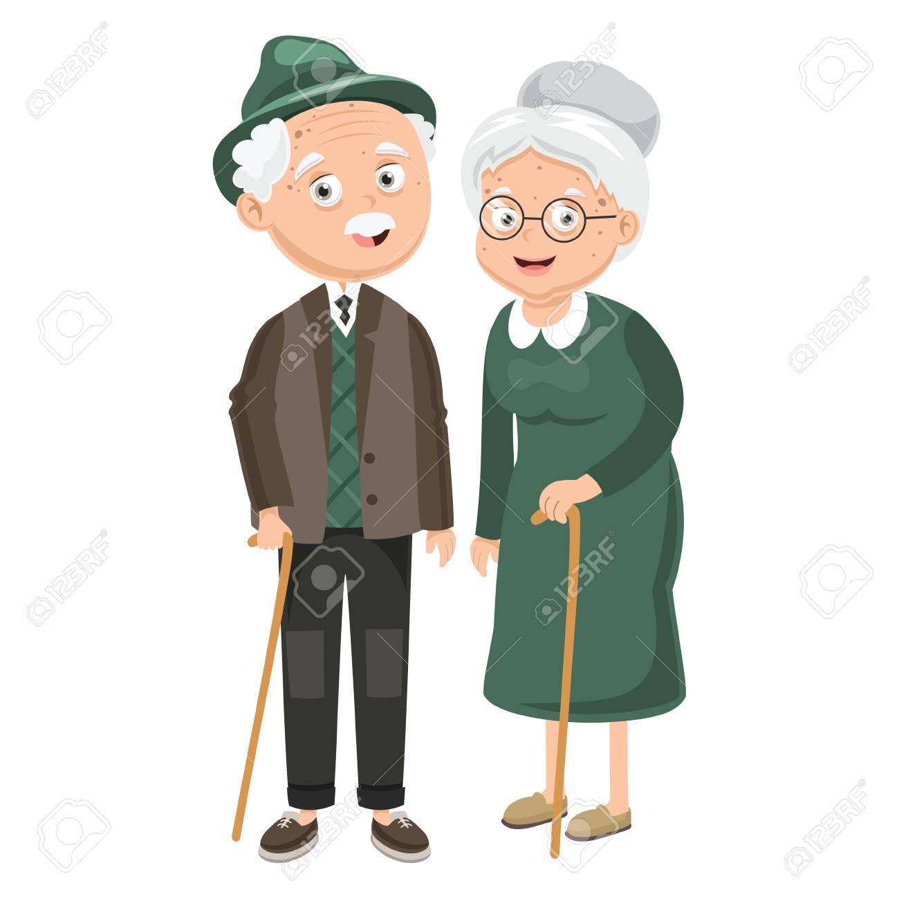 Vector Illustration Of Grandparents - 101047738