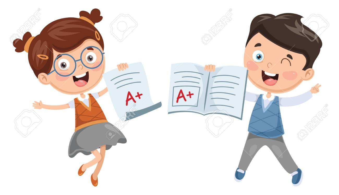 Vector Illustration Of Student Showing Diploma - 101081014