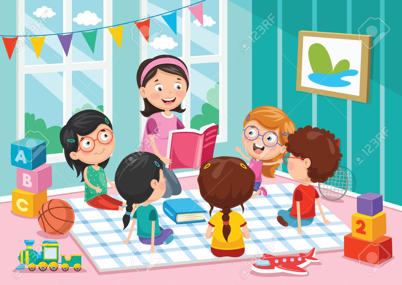 Vector Illustration Of Preschool Children - 102328745