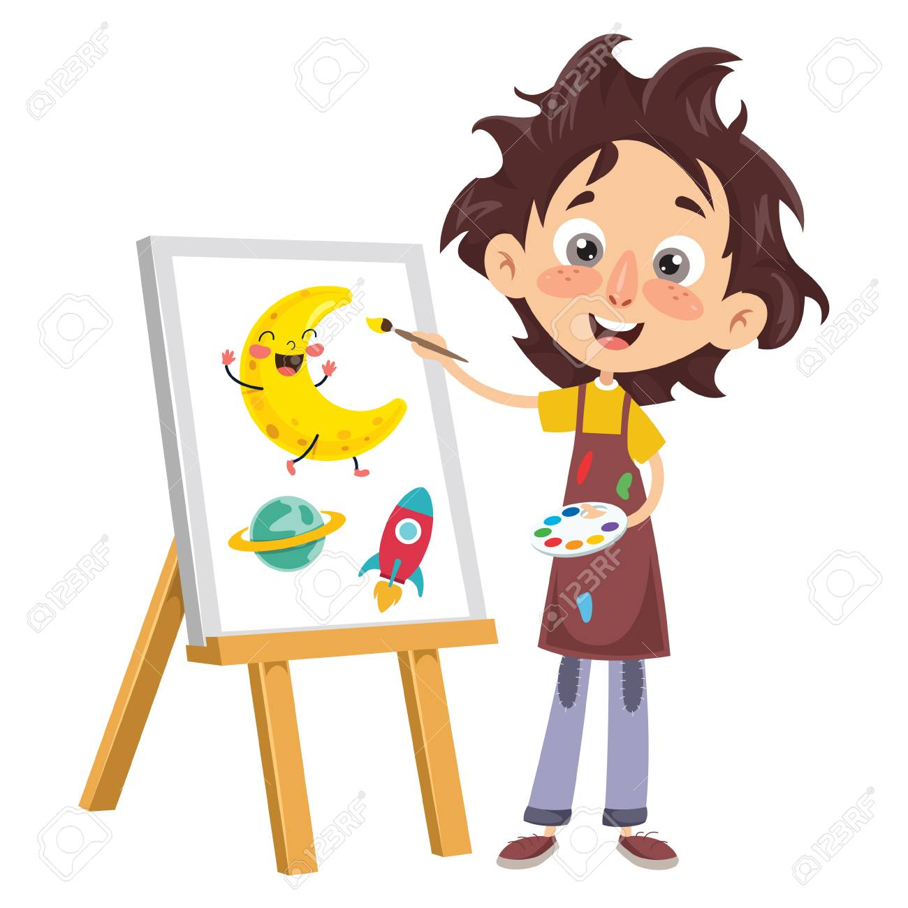 Vector Illustration Of A Kid Coloring Book Royalty Free Cliparts