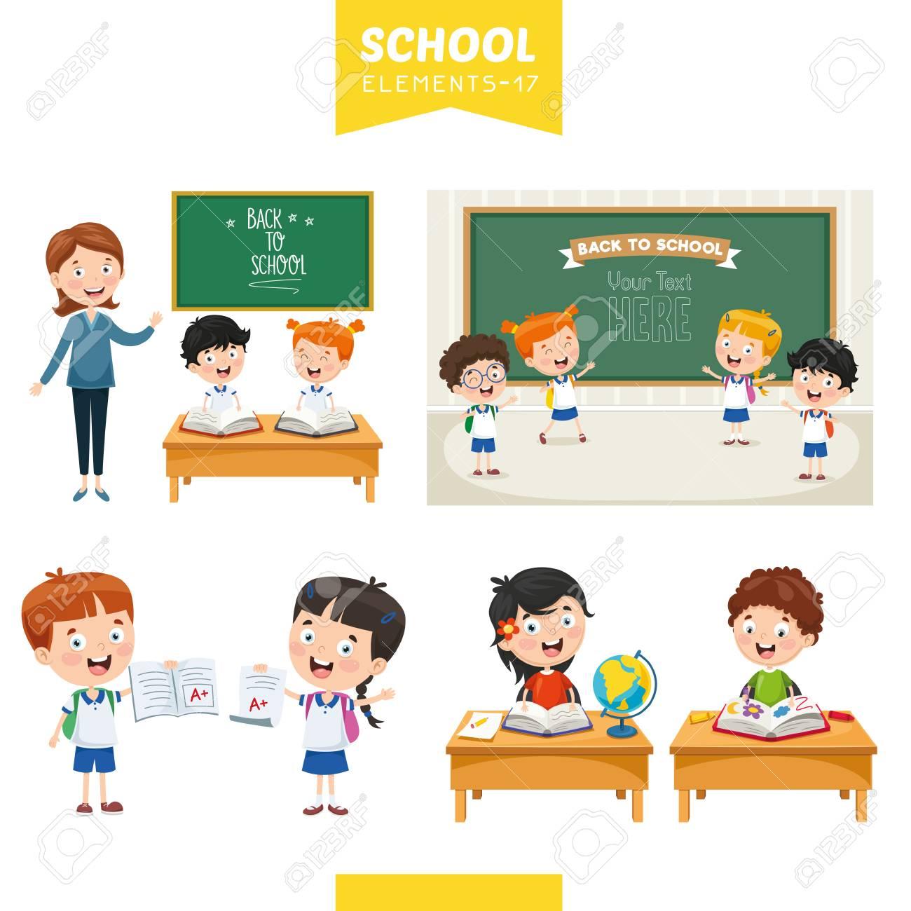 Vector Illustration Of Education Elements - 112919328