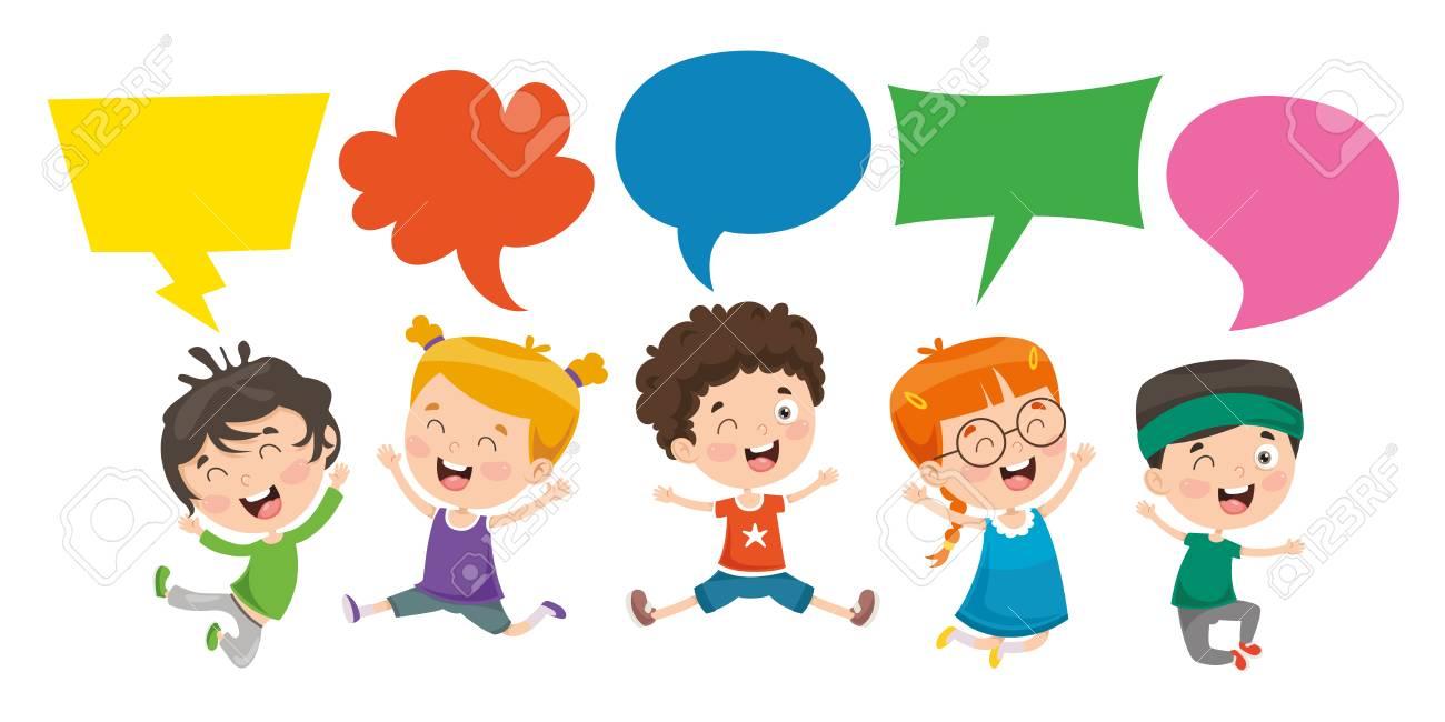Vector Illustration Of Kids Speech Bubble - 114680451