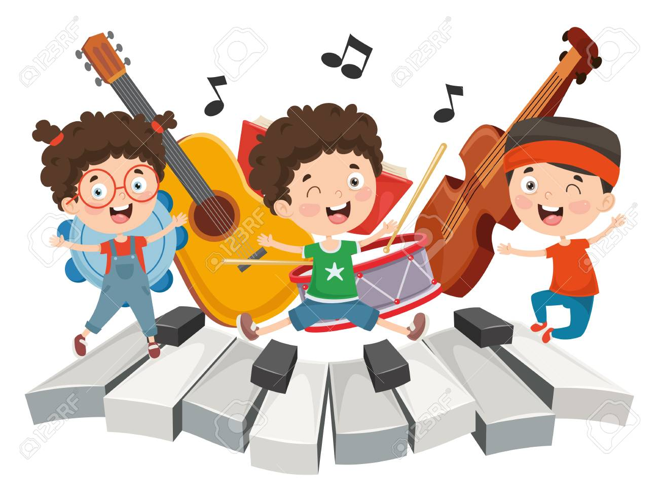 Vector Illustration Of Children Music - 114680734