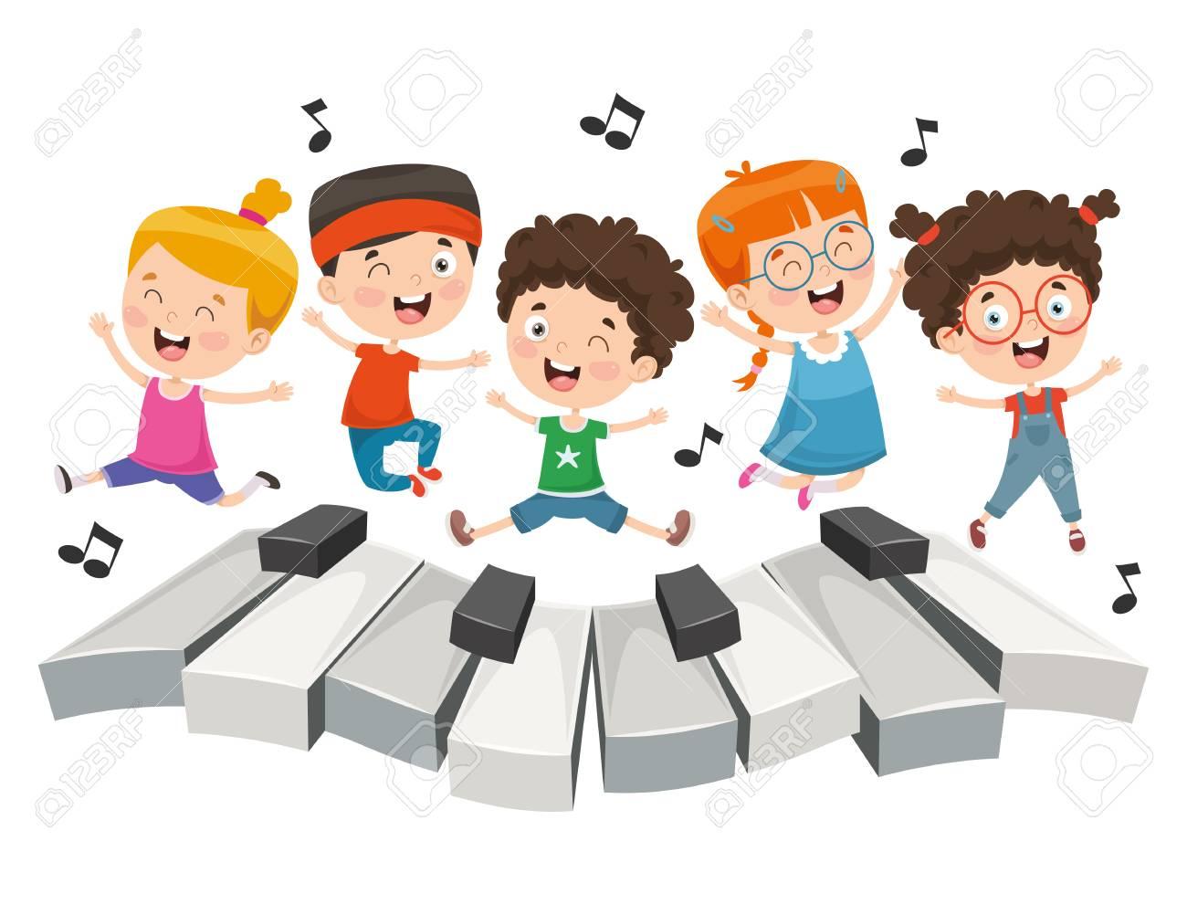Vector Illustration Of Children Music - 114680735