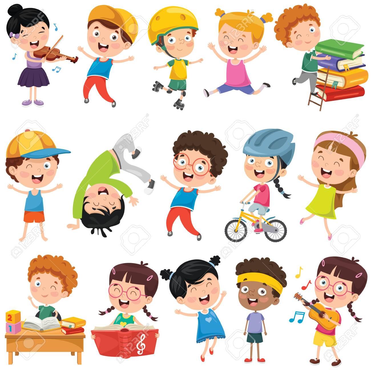 Collection Of Little Cartoon Children - 133192217