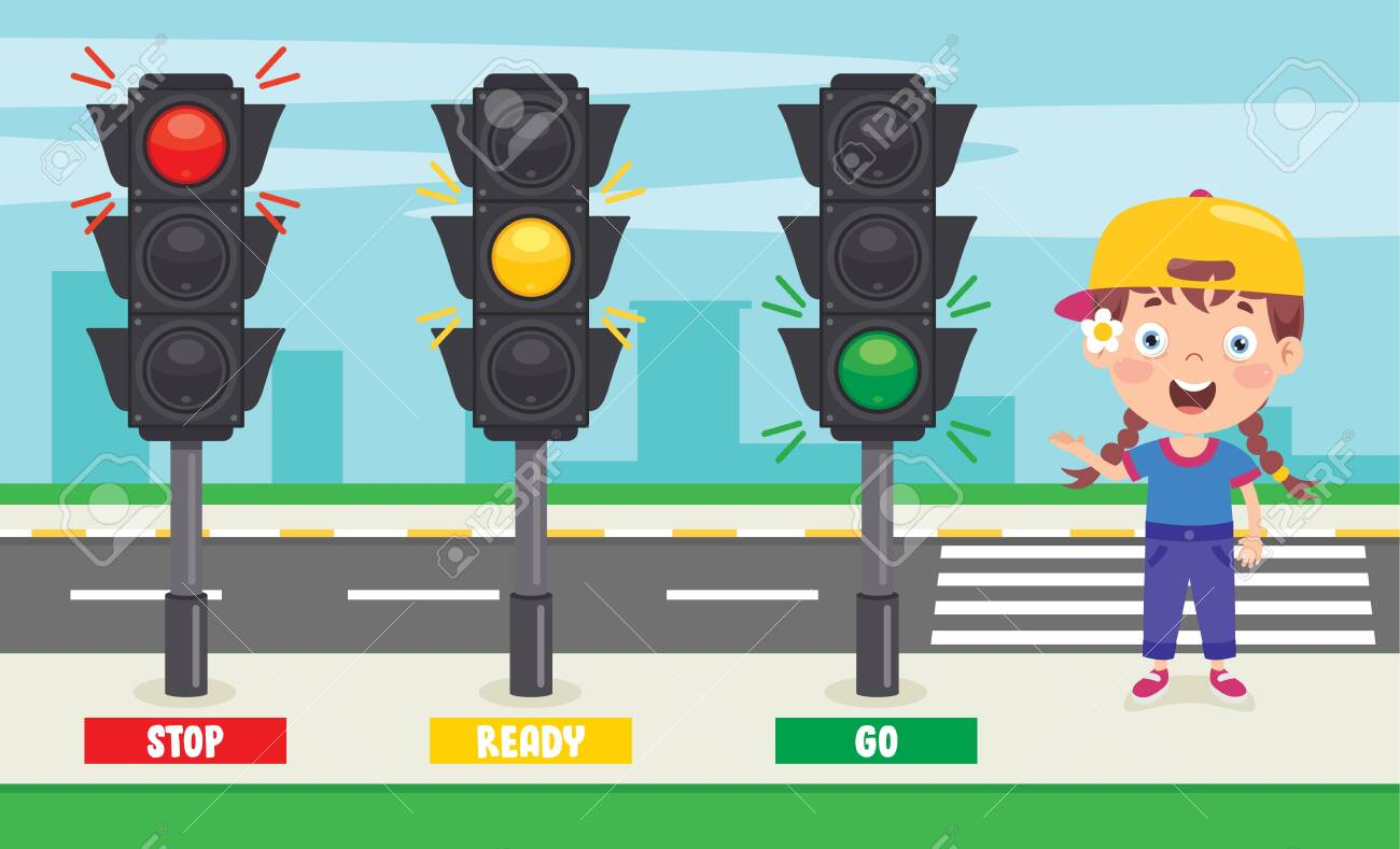 Traffic Concept With Funny Characters - 146653027