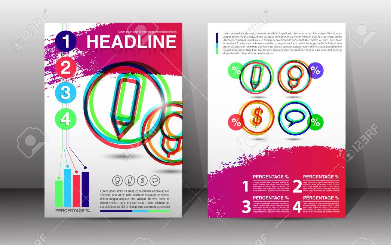 flyer brochure booklet design templates front and back side