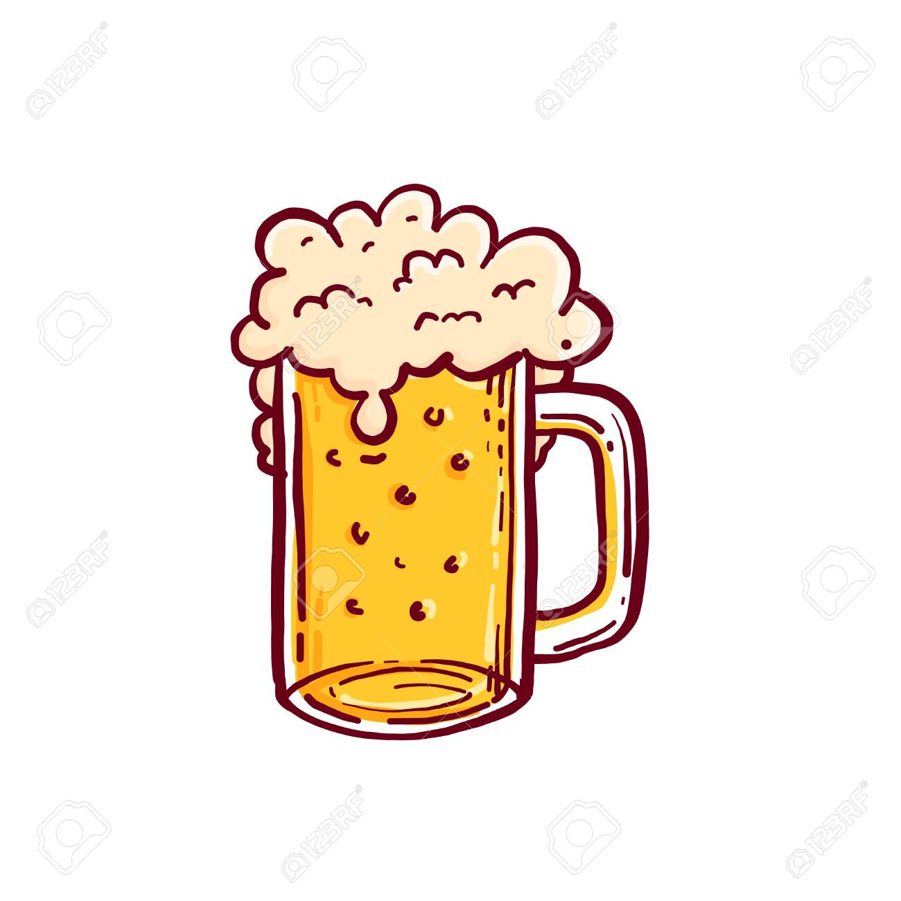 Octoberfest Beer Mug Doodle Vector Illustration Royalty Free Cliparts Vectors And Stock Illustration Image 130727087