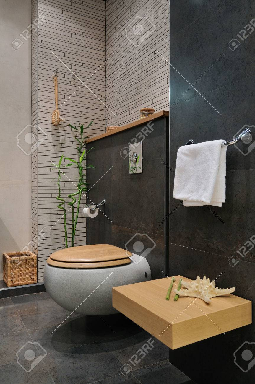 Interior Of Modern Bathroom Exclusive Design Stock Photo Picture And Royalty Free Image Image 26811142