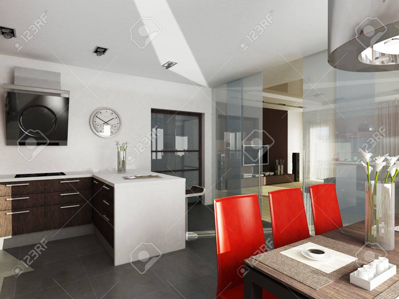 Moderne Innenarchitektur Küche Standard Bild   29577802