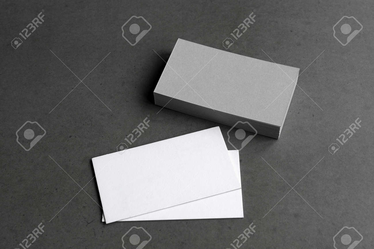 Business cards blank. Mockup on black background. Copy space for text. - 165376644