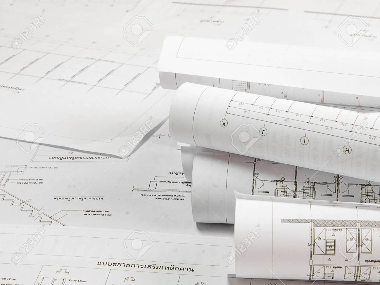Plan architectural du bâtiment de bureaux banque dimages et photos