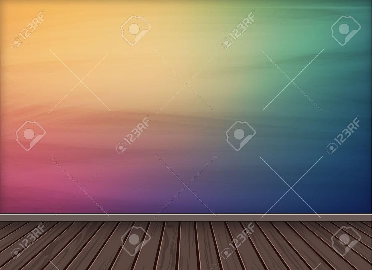 Bunte Hintergrund Hintergrund Mit Holz Textur Boden Anzupassen Oder