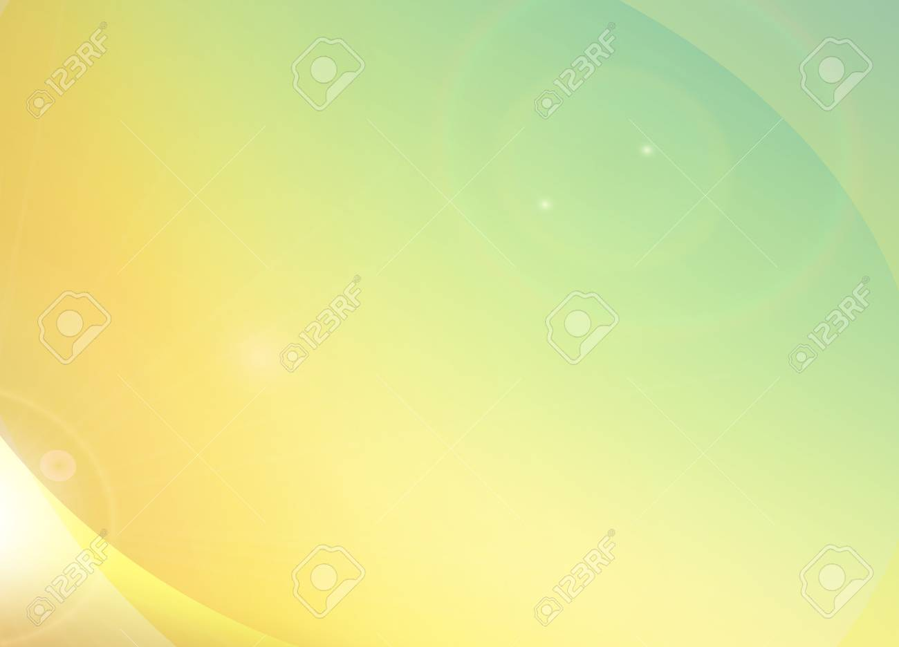 Summer Feeling, Light Yellow Orange Green Graphic Background ...