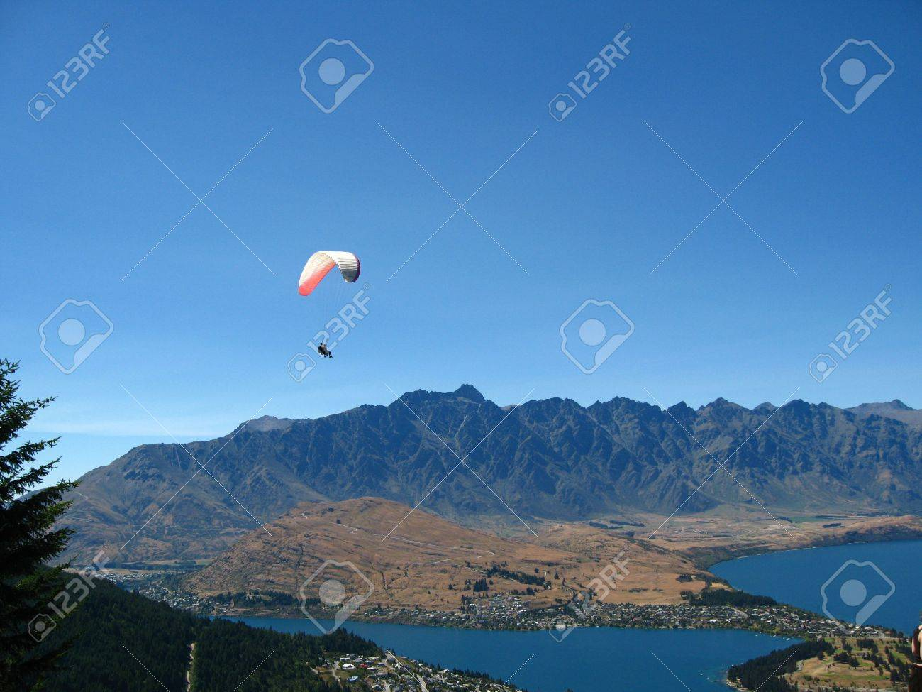 Skydiving Queenstown New Zealand Stock Photo Picture And Royalty