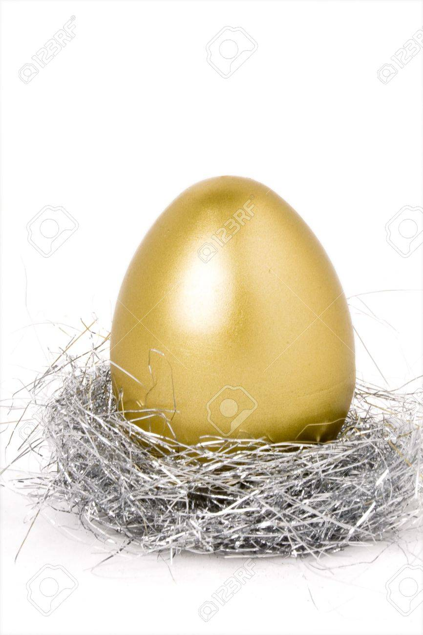 golden egg, concept of hatch Money Stock Photo - 2736982
