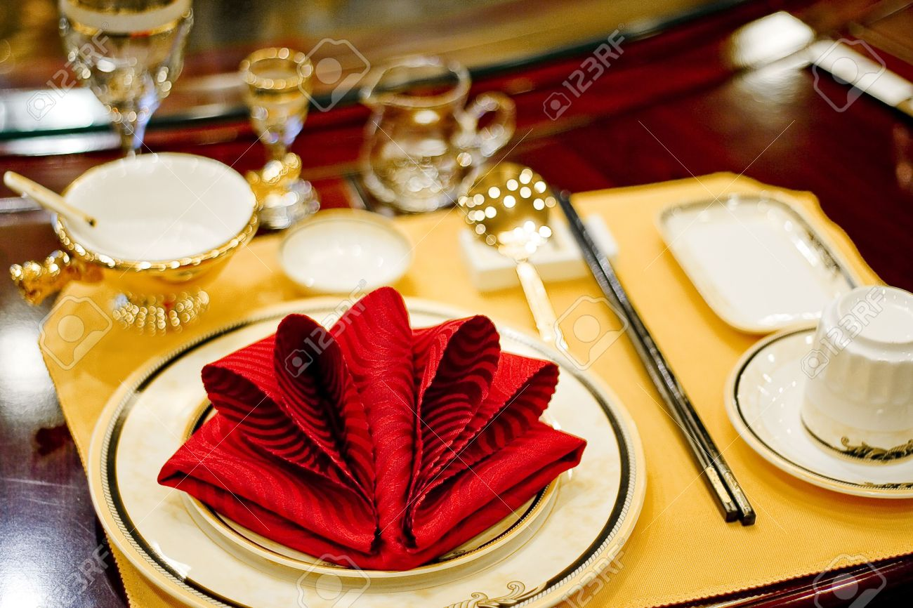 Awesome Banquet Table Setting Part - 12: Banquet Table Setting For Wedding In China Stock Photo - 4993303