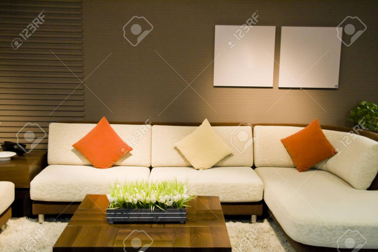 Nice Sofa luxury modern living room with nice sofa stock photo, picture and