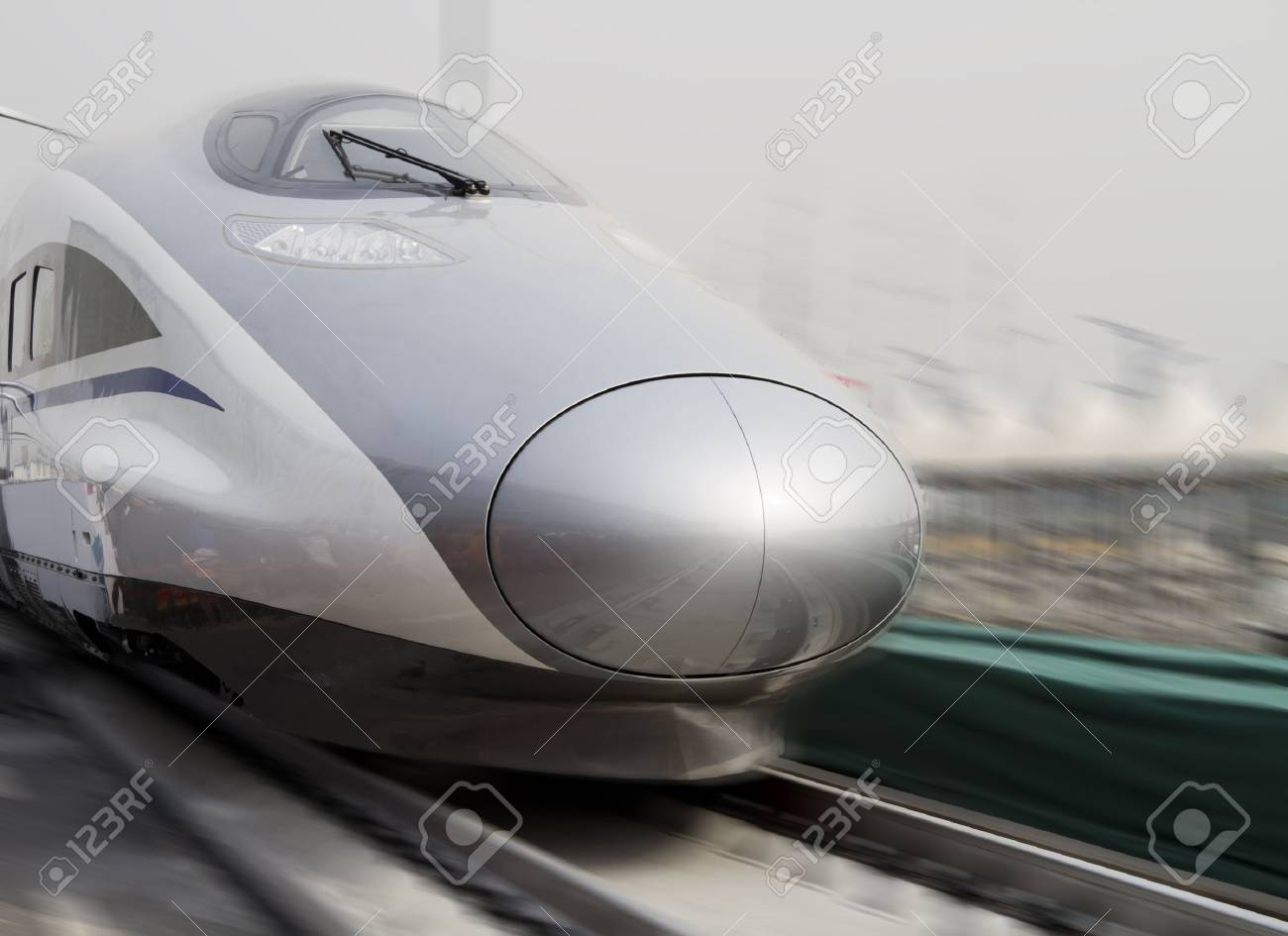Modern high speed bullet train in China Stock Photo - 9103505
