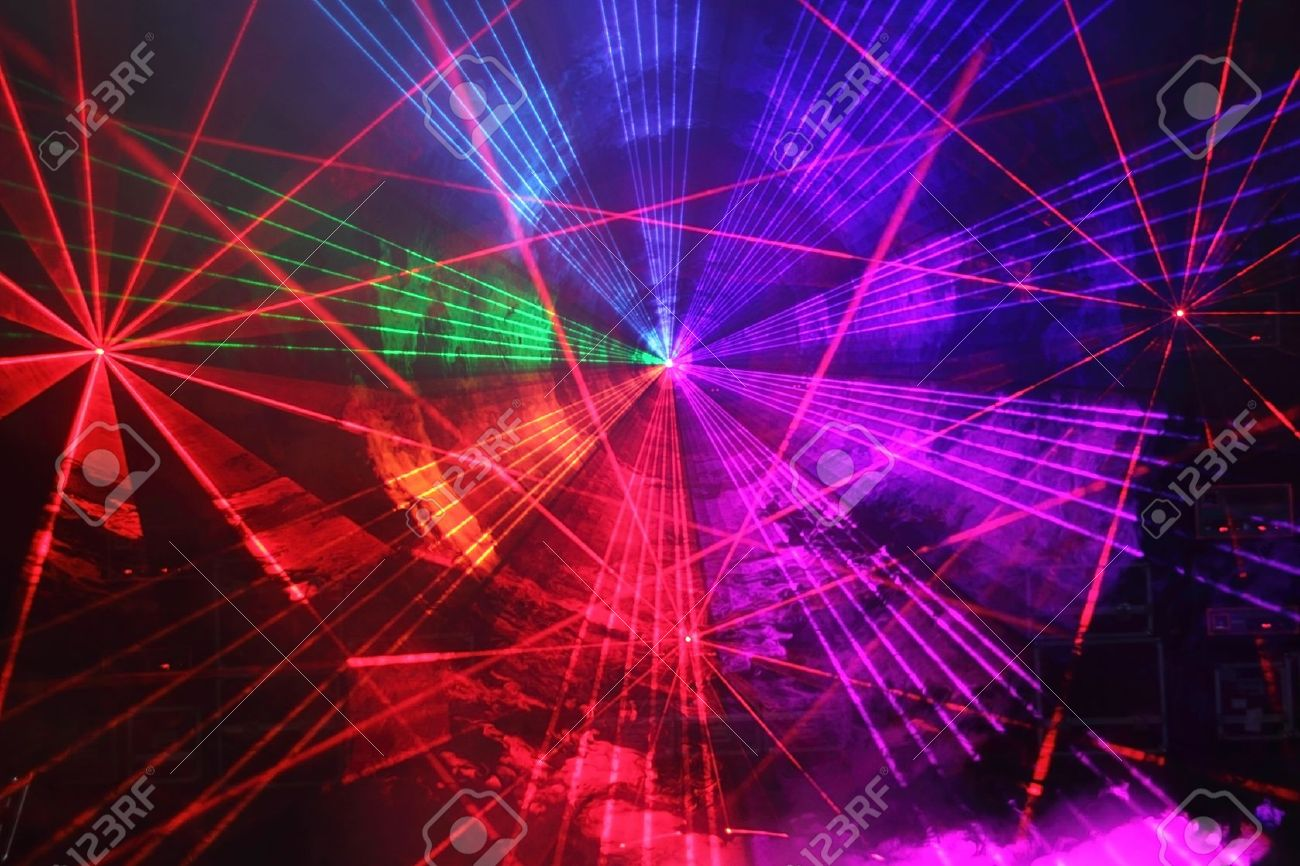 Colourful Disco with special effects and fantastic laser show Stock Photo - 13866306