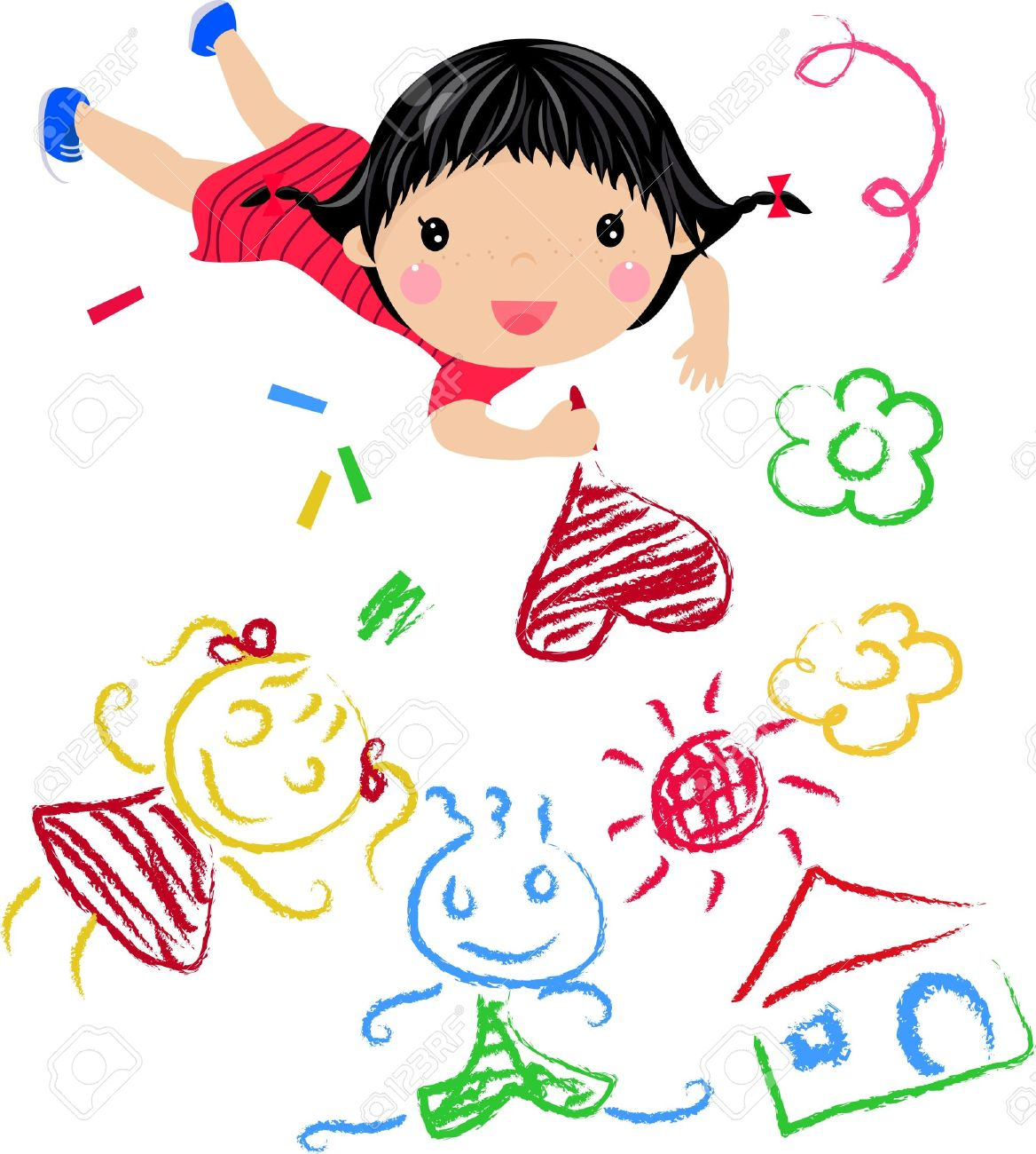 Kids Drawing Stock Photos Royalty Free Kids Drawing Images And