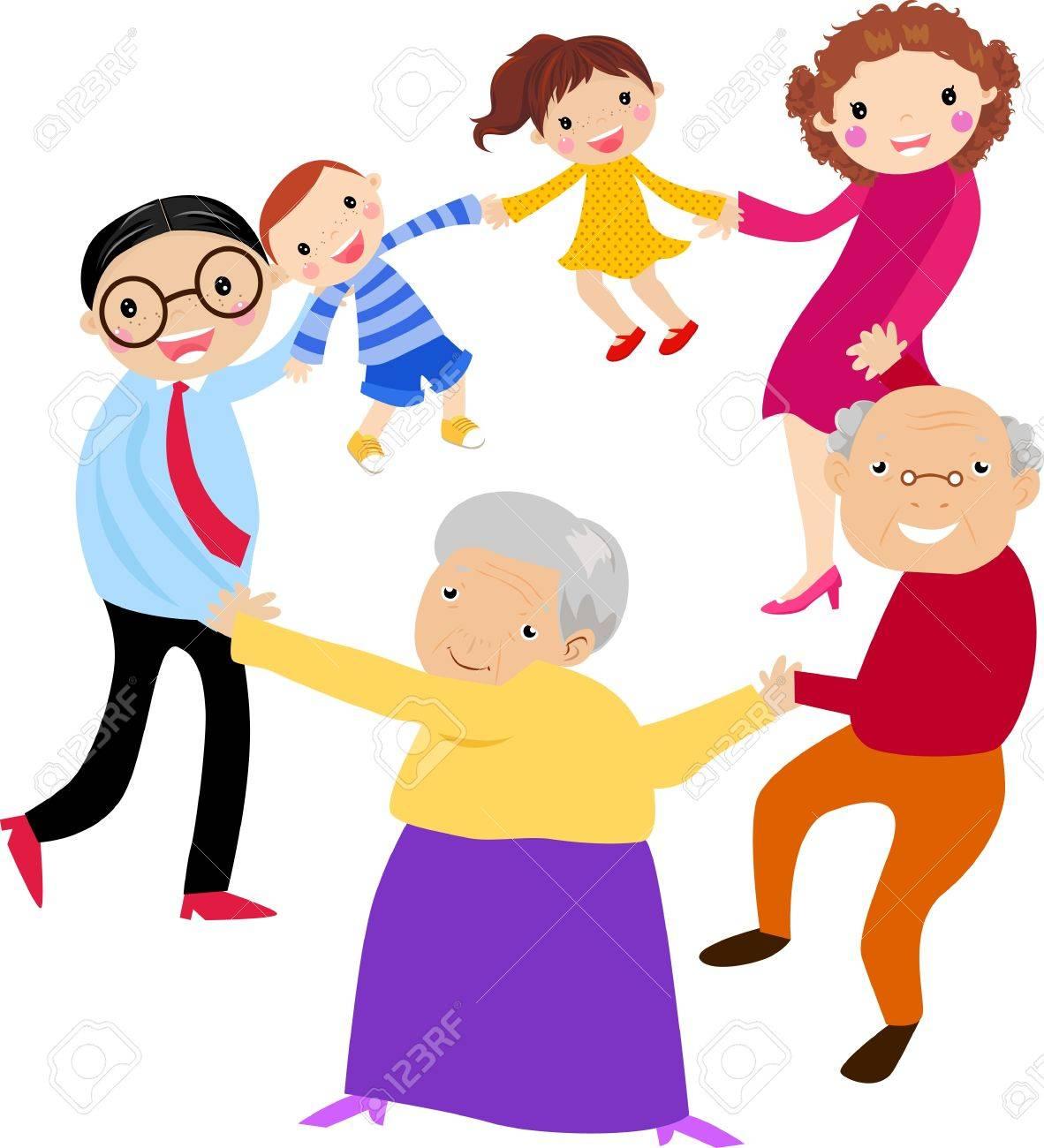 happy family holding hands cliparts vector và stock hình ảnh minh