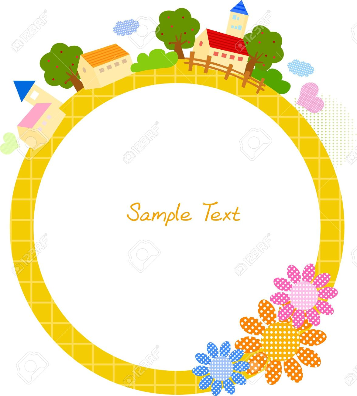 Cute Frame Stock Vector