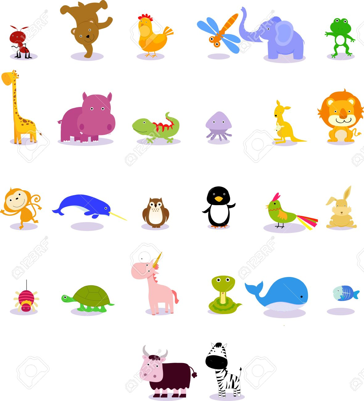 Animals from animal alphabet Stock Vector - 15301297
