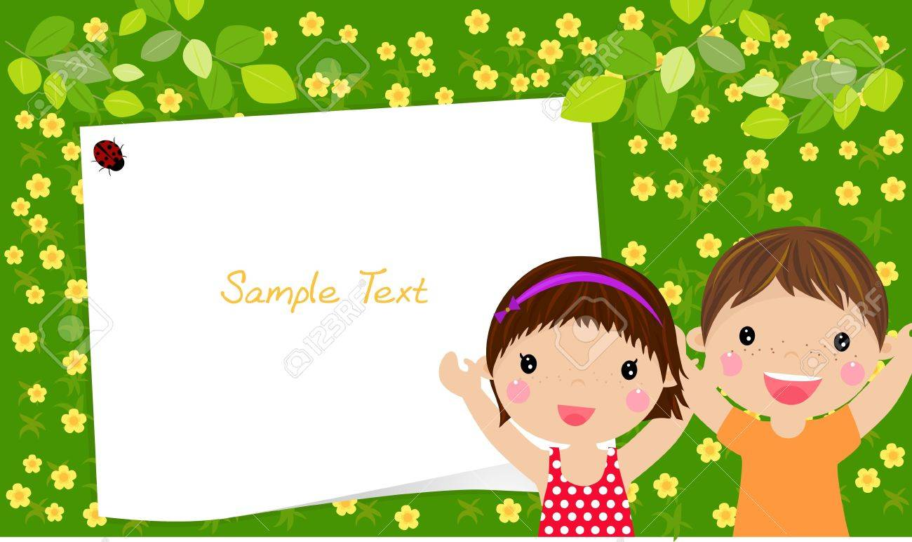 kids and frame Stock Vector - 14990505