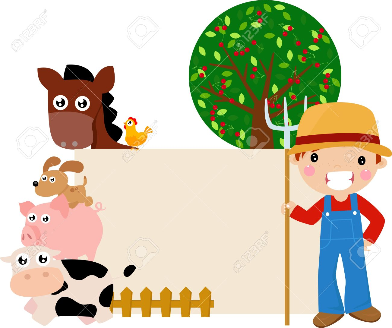 Farm Frame Royalty Free Cliparts, Vectors, And Stock Illustration ...