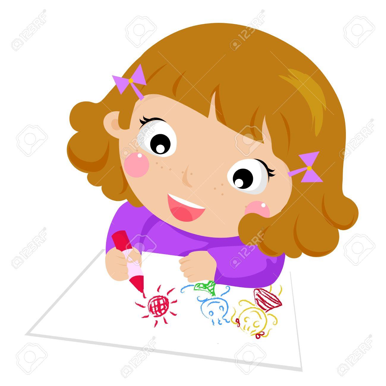 kids drawing stock vector 15170604 - Cartoon Drawings For Kids Free