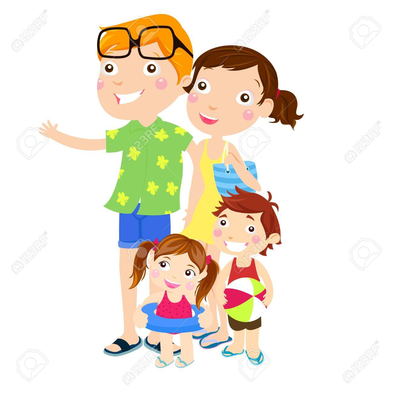 Family Outing At The Beach Royalty Free Cliparts Vectors And Stock