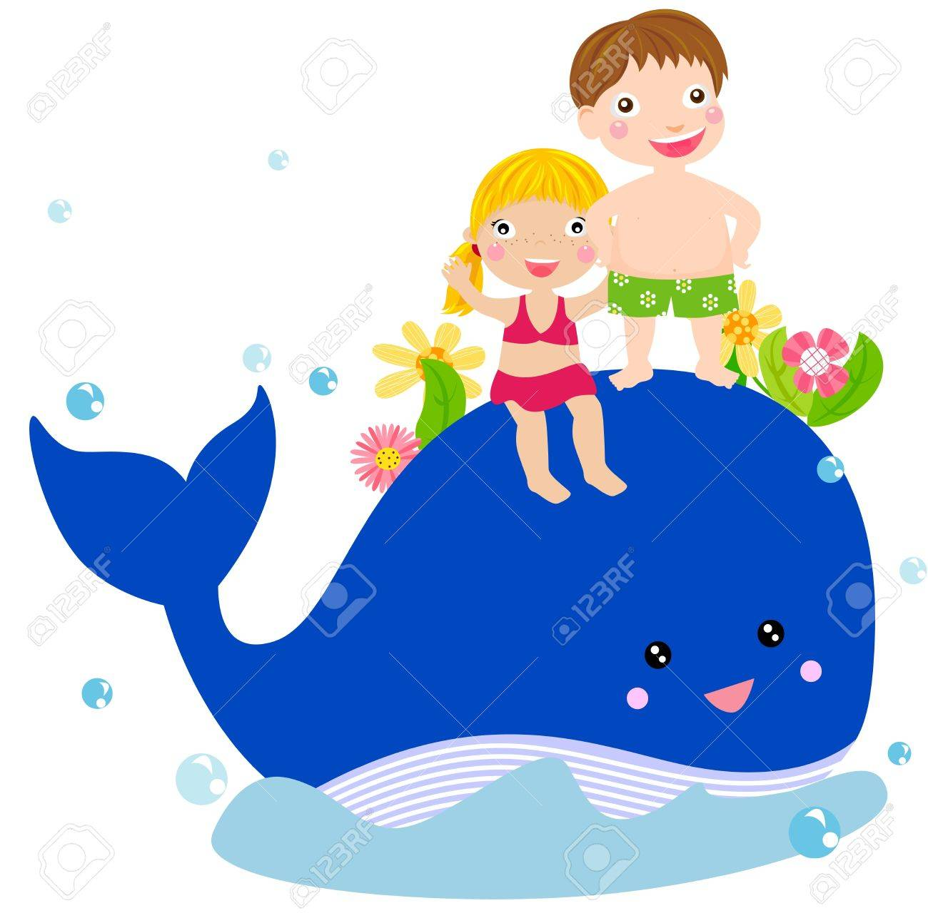 kids and whale royalty free cliparts vectors and stock