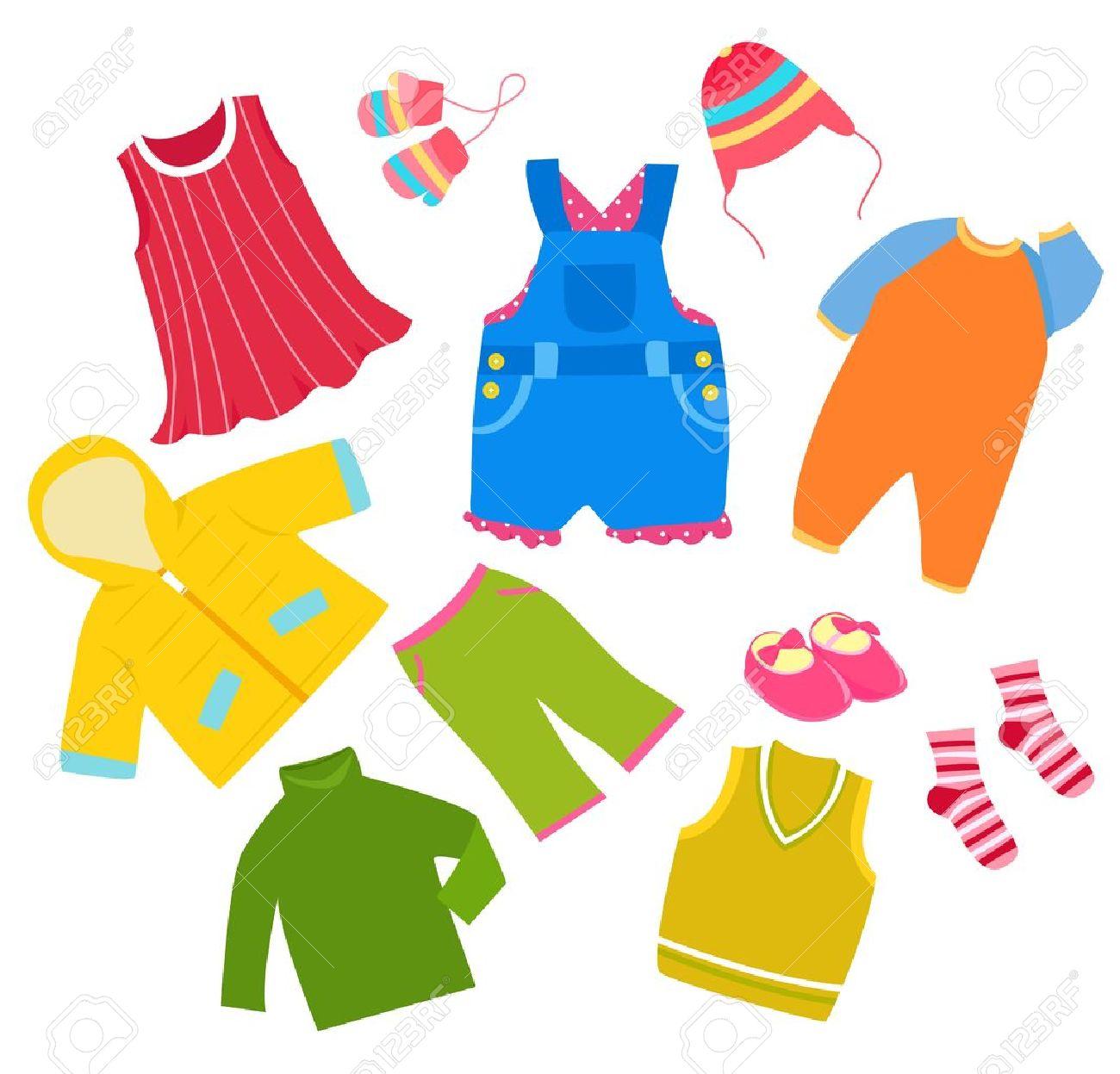 kid clothes frame royalty free cliparts vectors and stock rh 123rf com Boys' Clothes Clip Art Girl Clip Art Clothes