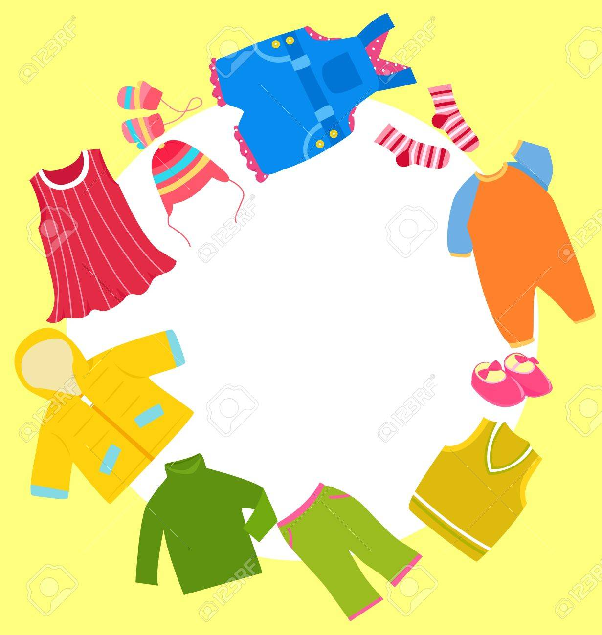 Kid Clothes Frame Royalty Free Cliparts, Vectors, And Stock ...