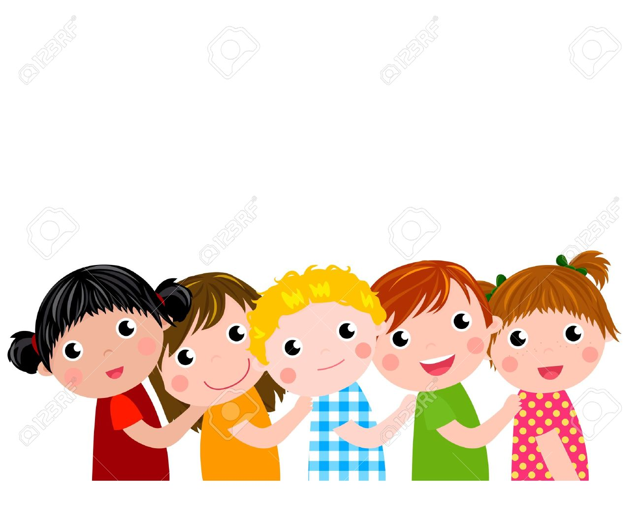 five kids stock vector 15741917