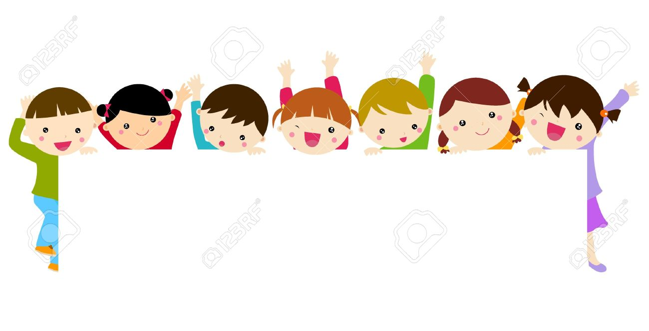 cute cartoon kids frame stock vector 15821766 - Cartoon Children Pictures