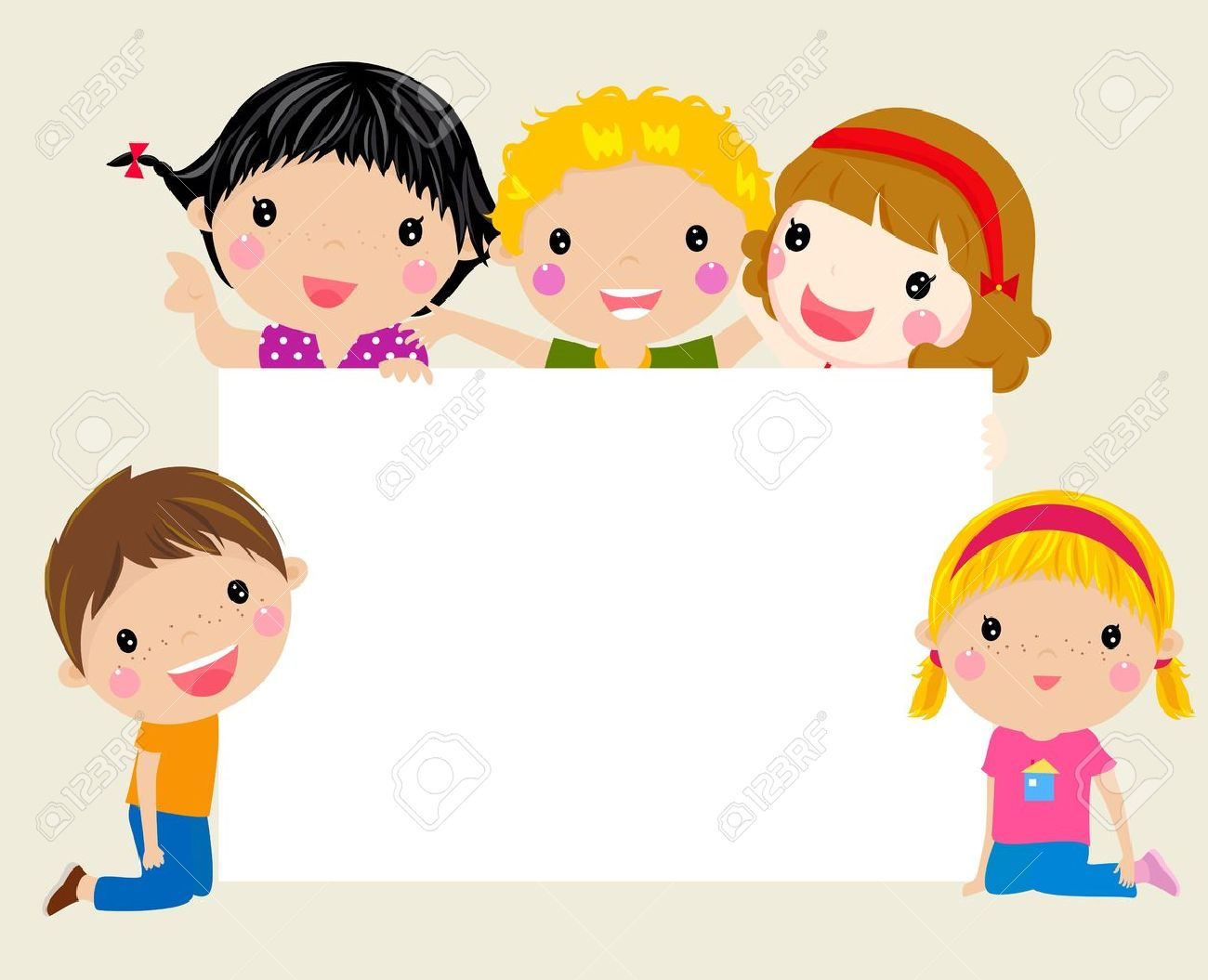 cute cartoon kids frame royalty free cliparts vectors and stock