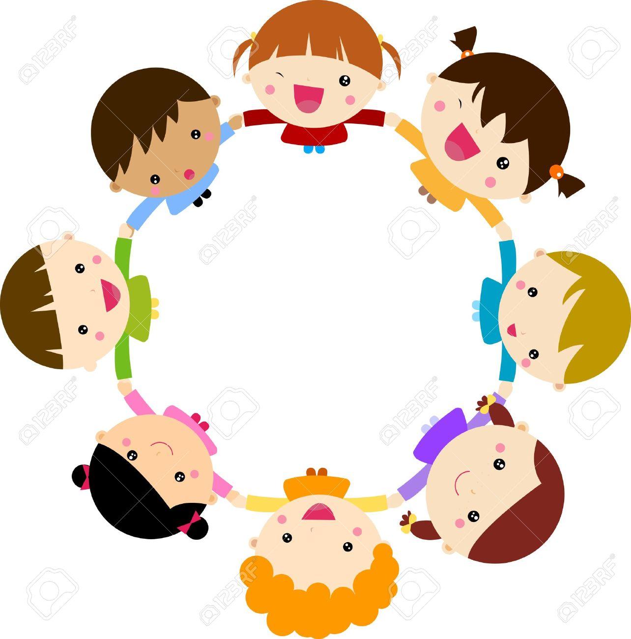 Los Niños Tomados De La Mano Ilustraciones Vectoriales Clip Art